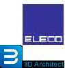 eleco company logo and 3D Architecture logo